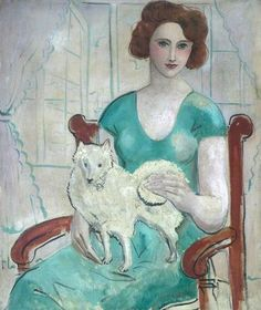 Woman with a Dog .by Christopher Wood