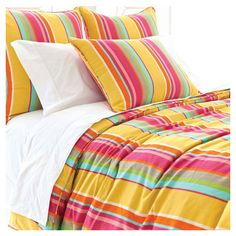 Brimming with cheerful appeal, this vibrant cotton duvet cover brings a bright pop of pattern to your master suite or guest bedroom with a multicolor stripe ... Anna