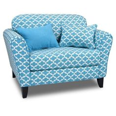 Totally Tween Loveseat - Fulton Coastal Blue