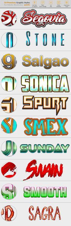 10 Graphic Styles for Illustrator vol. 05 #premium #glass Download : https://graphicriver.net/item/10-graphic-styles-for-illustrator-vol-05/19607235?ref=pxcr