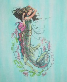 South Seas Mermaid. Several more beautiful projects found on stephaniestitches.wordpress.com
