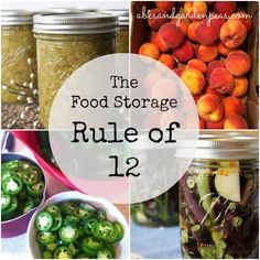 Food Storage and My New Rule of 12 - how to make sure you have canned enough garden food for the rest of the year