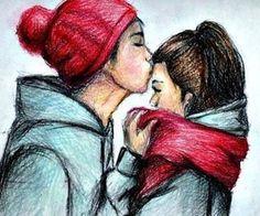 kiss in winter | via Tumblr