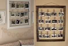 Dorm Walls, Wood Picture Frames, Love Home, Diy Party Decorations, Fashion Room, Room Decor Bedroom, My Room, Ideas Para, Photo Wall