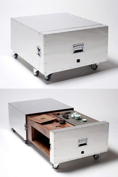 Naihan Li Conceals Furniture Functions In Metal Crates | Chairs | Pinterest  | Crates, Armchairs And Stools