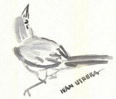 pájaro en acuarela