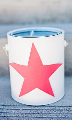 Paint can outdoor party candles. When making these candles you can scent them by adding a few drops of your favorite dōTERRA essential oil! Use TERRASHEILD or MELALUCA to help keep the bugs at bay. Use a citrus oil such as WILD ORANGE to freshen. YLANG YLANG, SANDALWOOD or PATCHOULI an exciting touch.