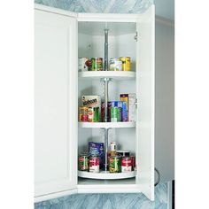 Rev-A-Shelf 3-Tier Wood Full Circle Cabinet Lazy Susan in the Lazy Susans department at Lowes.com Kitchen Pantry Storage, Kitchen Organization, Organized Kitchen, Closet Storage Systems, Shelf Hardware, Rev A Shelf, Rockler Woodworking, Lazy Susan, Base Cabinets