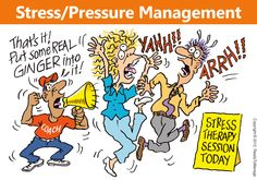 Stress / Pressure Management Cartoon | Stress and pressure are part of daily life.  The modern world seems to have speeded up everything and we are often expected to juggle with multiple priorities at once. And yet, there seems to be people who are really good at managing the stress or significant pressure in their lives and who we must be able to learn from. If we do, everyone can perhaps better manage the pressure upon them more wisely.