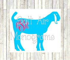 Livestock Show/Animal decal by SaltAirMonograms on Etsy