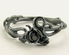black on black rose garden ring from Wexford Jewelers