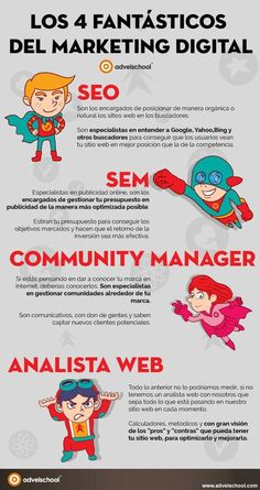 4 Fantásticos del Marketing Digital #infografia #infographic #marketing