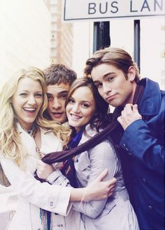 Gossip Girl -Serena, Chuck, Blair and Nate