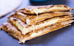 Quesadillas With Cashew Mozzarella and Chipotle Cream [Vegan] | One Green Planet