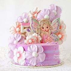 Buttercream Cake, Fondant Cakes, Cupcake Cakes, Sweet Cakes, Cute Cakes, Funny Cake, Candy Cakes, Baking With Kids, Fun Cupcakes