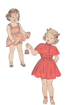 Advance 4881 Vintage 1950s Sewing Pattern Toddler by HappyIFoundIt