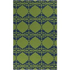 Estelle Rug, Blue and Green