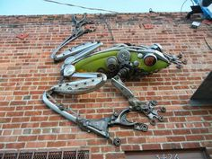 Metal sculpture in West Oakland. http://jamescorbettart.com