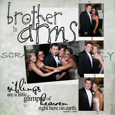 Gallery For > Simple Scrapbook Layout Wedding