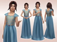 The Sims 4 sifixcc Margaery Dress (Child Version) Sims 4 Mods Clothes, Sims 4 Clothing, The Sims 4 Pc, Sims Cc, Royal Dresses, Ball Dresses, Maxis, The Sims 4 Bebes, Sims Medieval