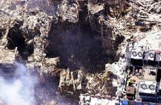 An aerial view of the wreckage at the World Trade Center on Sept. New York City Office of Emergency Management # World Trade Center, Trade Centre, Ground Zero Nyc, 11 September 2001, Nine Eleven, Ufo Footage, Ground Zeroes, Wtc 9 11, We Will Never Forget