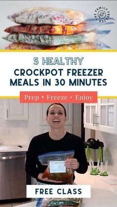 Premade Freezer Meals, Healthy Freezer Meals, Dump Meals, Make Ahead Meals, Freezer Cooking, Crock Pot Cooking, Healthy Crockpot Recipes, Crockpot Meals, Cooking Recipes