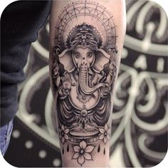 tattoodo on Picoji Cool Forearm Tattoos, Dope Tattoos, Head Tattoos, Badass Tattoos, Body Art Tattoos, Tattoos For Guys, Portrait Tattoos, Ganesha Tattoo Sleeve, Ganesha Tattoo Lotus