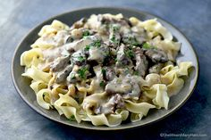 Beef Stroganoff is made with beef, mushrooms and onions, plus a cast of delectable seasonings that mingle together to create this classic comfort food.