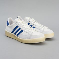adidas / Nastase Master Vintage (Neo White / Grey / Collegiate Royal) via Oi Polloi Vintage, Shoe Boots, Men's Shoes, Sportswear, Footwear, Style, Mens Fashion, Adidas Sneakers, Trainers