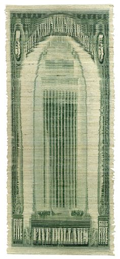 """Curtis Readel, """"Towering stud,"""" 2009, shredded US currency collage"""