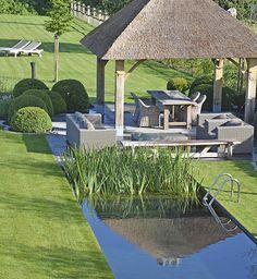 KLASSIEK Natural Swimming Pools, Swimming Pools Backyard, Garden Pool, Outdoor Pergola, Outdoor Sheds, Outdoor Gardens, Pond Design, Landscape Design, Garden Design