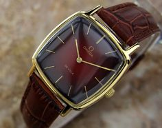 MENS RARE VINTAGE Swiss OMEGA DEVILLE GOLD PLATED STAINLESS 1970'S MANUAL (500) #Omega #Dress