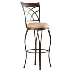 Have to have it. Southern Enterprises Winewood Swivel Bar Stool - $119.99 @hayneedle