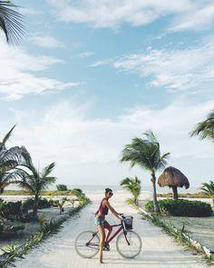 Summer en las playas de Tailandia ..... Momento de paseo en bici y disfrutar de la magia del momento