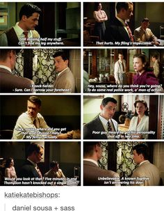 This is why I adore the idea of Peggy/Daniel. Together their sass would be unstoppable.