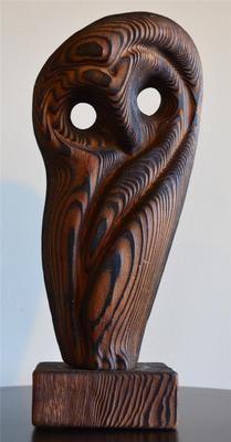 WITCO DANISH MID CENTURY MODERN VINTAGE TIKI ATOMIC OWL SCULPTURE EAMES