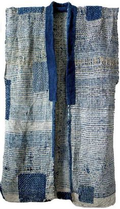 japanese - boro and sashiko Japanese Sewing, Japanese Embroidery, Japanese Style, Shibori, Loom Weaving, Hand Weaving, Textile Design, Textile Art, Jeans Recycling
