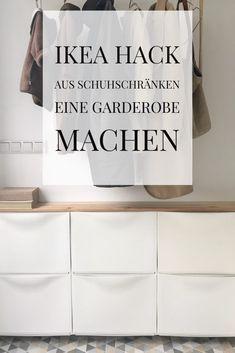Ikea Hack Schuhschrank Als Regal Im Flur Bauen. Unseren Flur Habe Ich Hell  Udn Freundlich