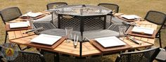 JAG Grill, FirePit, Grill, BBQ, Table, Luxury Grill, FirePit Grill, FirePit Table, Luxury FirePit, Charcoal Grill, Wooden Grill, Man Grill, ...