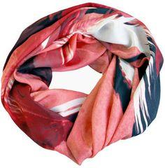 Good&co #Red #Birds #Chiffon #Silk #Scarf