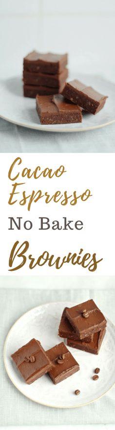 Cacao Espresso No Bake Brownies | Natural Kitchen Adventures | Vegan, gluten free, dairy free, raw
