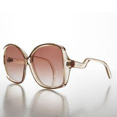 Oversized 1970s Bug Eye Jackie O Style Women's Vintage Sunglasses - TORIN