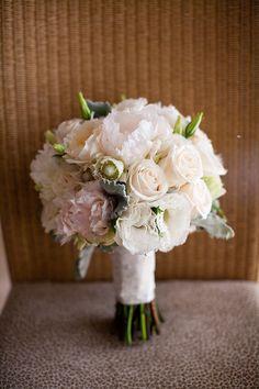 soft cream and white wedding bouquet