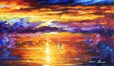 SUNSET OF EMOTIONS - Original Oil Painting On Canvas By Leonid Afremov http://afremov.com/SUNSET-OF-EMOTIONS-Original-Oil-Painting-On-Canvas-By-Leonid-Afremov-16-x20-40cm-x-50cm.html?utm_source=s-pinterest&utm_medium=/afremov_usa&utm_campaign=ADD-YOUR