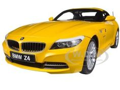 BMW Z4 E89 SDRIVE 35I ATACAMA YELLOW WITH RETRACTABLE ROOF 1/18 DIECAST CAR MODEL BY KYOSHO