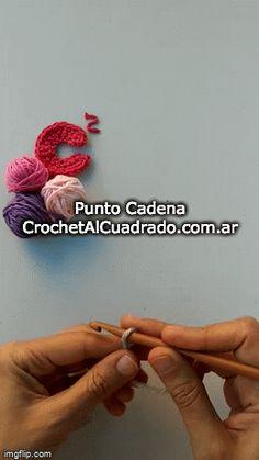 📣 😀 Aprender a tejer al Crochet es súper fácil. Love Crochet, Learn To Crochet, Chain Stitch, Fun, Knitting Squares, Vintage Crochet, Beginner Crochet, How To Knit, Initials