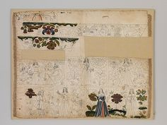 Unfinished cabinet panel. Date: ca. 1660 Culture: British Medium: Silk, metal, ink, pigment. Dimensions: 17.5 x 22 in. (44.5 x 55.9 cm) Classification: Textiles-Embroidered Credit Line: Purchase, Mrs. Sid R. Bass Gift, in honor of Mrs. Charles Wrightsman, and Rogers Fund, 1998 Accession Number: 1998.541