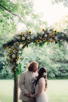 Sunflower Bridal Portrait | Anya & Matt | Barn at Cedar Grove | Ankedota Studio