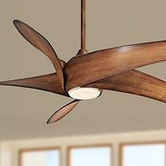 "62"" Artemis XL5 Distressed Koa LED DC Ceiling Fan - Quick Look | Lamps Plus Transitional Ceiling Fans, Contemporary Ceiling Fans, Dc Ceiling Fan, Ceiling Height, Industrial Ceiling Fan, Rustic Industrial, Ceiling Fan Makeover, Fan Lamp, Room Lamp"