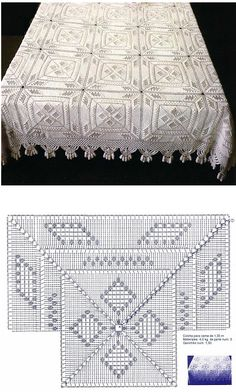 Crochet bedspread and chart